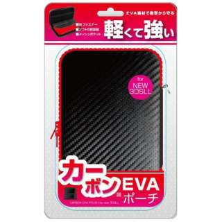 new3DSLL用 カーボンEVAポーチ ブラック・レッド【New3DS LL】
