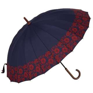 【傘】レディース長傘 20本骨古代唐草柄 20KR-1L55-UH 55cm【色指定不可】