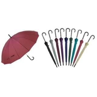 【傘】ユニセックス長傘 16本骨無地 F16-1L55-UH 55cm【色指定不可】
