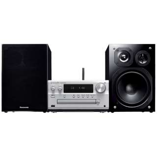 【ハイレゾ音源対応】Bluetooth対応 ミニコンポ(シルバー) SC-PMX100-S【ワイドFM対応】