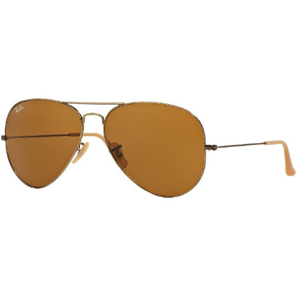 ray ban aviator large gold braun