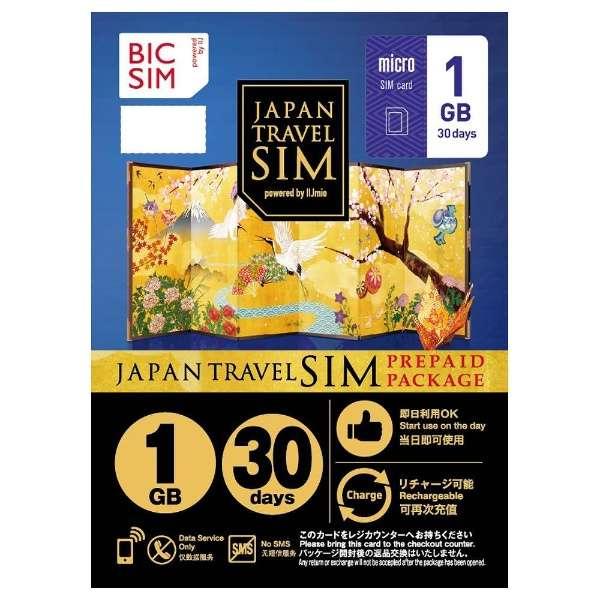 Micro SIM 「BIC SIM JAPAN TRAVEL SIM/1GB」 Prepaid・Data only・SMS unavailable IMB089