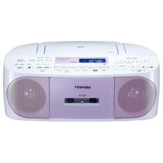 TY-CDS7 ラジカセ ピンク [ワイドFM対応 /CDラジカセ]