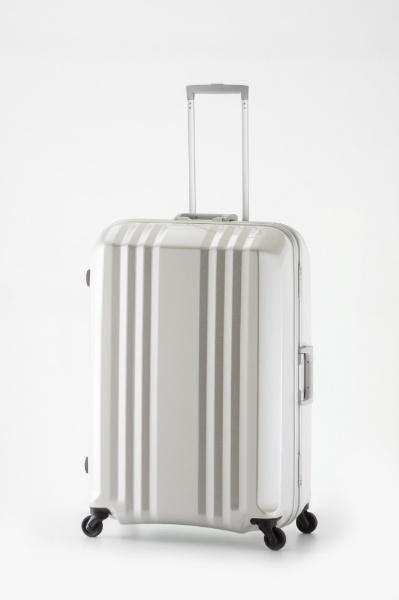 スーツケース ハードキャリー 90L デカかる2 ホワイトカーボン MM-5688 [TSAロック搭載]