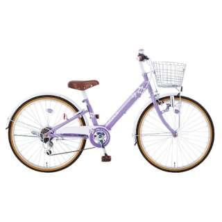 24型 子供用自転車 マハロジュニアV246(パープル/6段変速) 【組立商品につき返品不可】