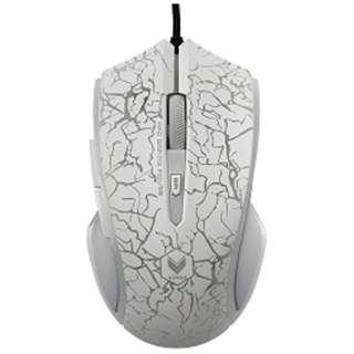 V20MW ゲーミングマウス Rapoo V20シリーズ ミラーホワイト  [光学式 /6ボタン /USB /有線]