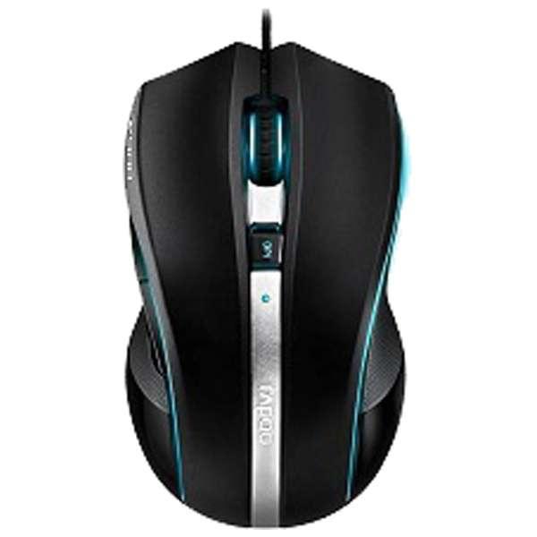 V900BL ゲーミングマウス Rapoo V900 ブラック  [レーザー /7ボタン /USB /有線]