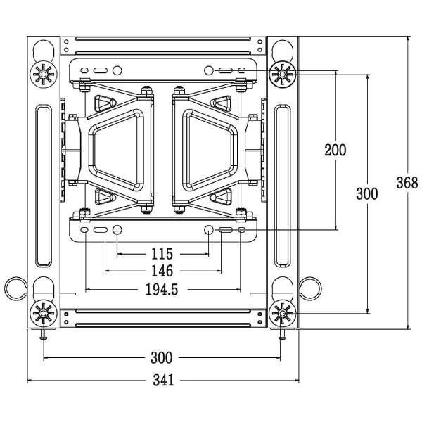 壁掛け金具 フルモーション式(前後上下左右可動) LSW350B 【生産完了品 在庫限り】