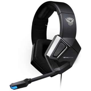 EASARS SPARKLE ヘッドセット ブラック [φ3.5mmミニプラグ+USB /両耳 /ヘッドバンドタイプ]