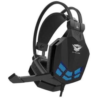 EASARS TORNADO ゲーミングヘッドセット TORNADO ブラック [USB /両耳 /ヘッドバンドタイプ]