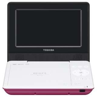 SD-P710S ポータブルDVDプレーヤー REGZA(レグザ) ピンク [7V型ワイド /約3時間(初期性能値) /ディスク再生時:約4時間(初期性能値。節電モード「入」時は約5時間) /DVD-Video DVD-R(片面1層4.7GB)(DVD-Video/DVD-VR(CPRM対応)/MP3/JPEG) DVD-RW(片面1層4.7GB