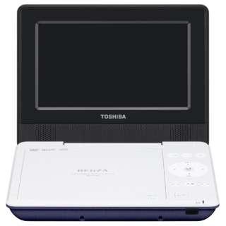 SD-P710S ポータブルDVDプレーヤー REGZA(レグザ) ブルー [7V型ワイド /約3時間(初期性能値) /ディスク再生時:約4時間(初期性能値。節電モード「入」時は約5時間) /DVD-Video DVD-R(片面1層4.7GB)(DVD-Video/DVD-VR(CPRM対応)/MP3/JPEG) DVD-RW(片面1層4.7GB
