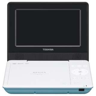 SD-P710S ポータブルDVDプレーヤー REGZA(レグザ) グリーン [7V型ワイド /約3時間(初期性能値) /ディスク再生時:約4時間(初期性能値。節電モード「入」時は約5時間) /DVD-Video DVD-R(片面1層4.7GB)(DVD-Video/DVD-VR(CPRM対応)/MP3/JPEG) DVD-RW(片面1層4.7