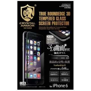 iPhone 6用 クリスタルアーマー True RoundEdge 3D ブラック G-IP6-TRAB