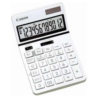 ビジネス電卓 新・ビジネス向け電卓 ホワイト KS-1220TU-WH SOB [12桁]