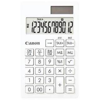 電卓 シンプルスマートシリーズ ピュアホワイト SI-12T SOB [12桁]