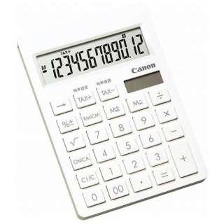 電卓 シンプルスマートシリーズ ピュアホワイト SI-120T SOB [12桁]