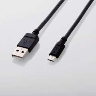 [micro USB]USBケーブル 充電・転送 (0.7m・ブラック)MPA-AMBY2U07BK [0.7m]