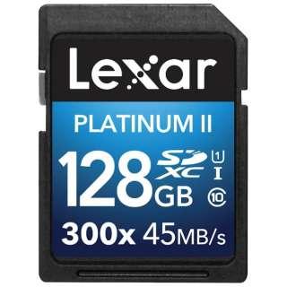 SDXCカード Lexar Platinum II 300x LSD128BBJP300 [128GB /Class10]