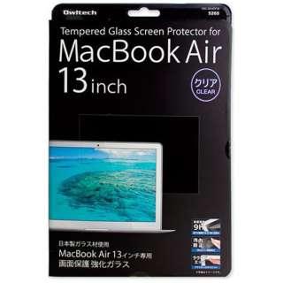 Mac Book Air用液晶画面保護 強化ガラス[ナチュラルクリアタイプ](13インチ) OWL-MAAGF38