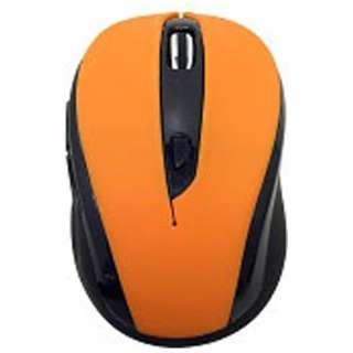 ワイヤレス光学式マウス[2.4GHz USB・Mac/Win] RETORO POPサイレントマウス (Win:5ボタン・オレンジ) BCM612GO2