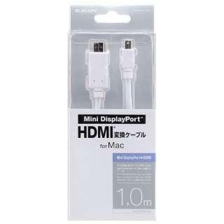 1.0m[Mini DisplayPort ⇔ HDMI]ケーブル AD-MDPHDMIWHシリーズ ホワイト AD-MDPHDMI10WH