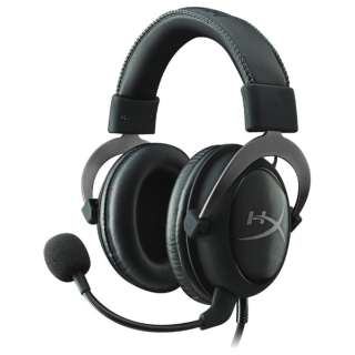 KHX-HSCP-GM ヘッドセット ガンメタル [φ3.5mmミニプラグ+USB /両耳 /ヘッドバンドタイプ]