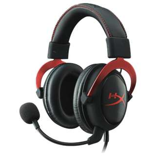 KHX-HSCP-RD ゲーミングヘッドセット HyperX レッド [φ3.5mmミニプラグ+USB  / 両耳  / ヘッドバンドタイプ]