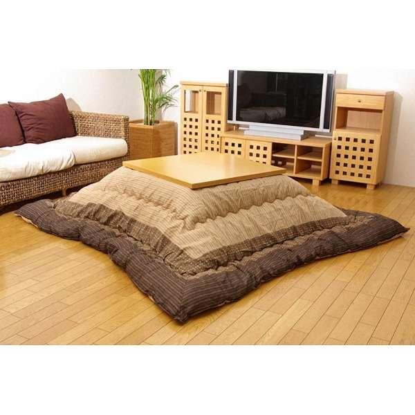 5104879 こたつ布団 YUKARI(ゆかり) ブラウン [対応天板サイズ:約90×210cm /長方形]
