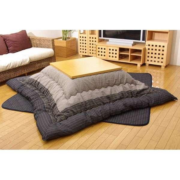5110360 こたつ布団 YUKARI(ゆかり) ブラック [対応天板サイズ:約90×180cm /長方形]