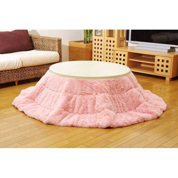 5812689 こたつ布団 Philip(フィリップ) ピンク [対応天板サイズ:直径約90cm /円形]