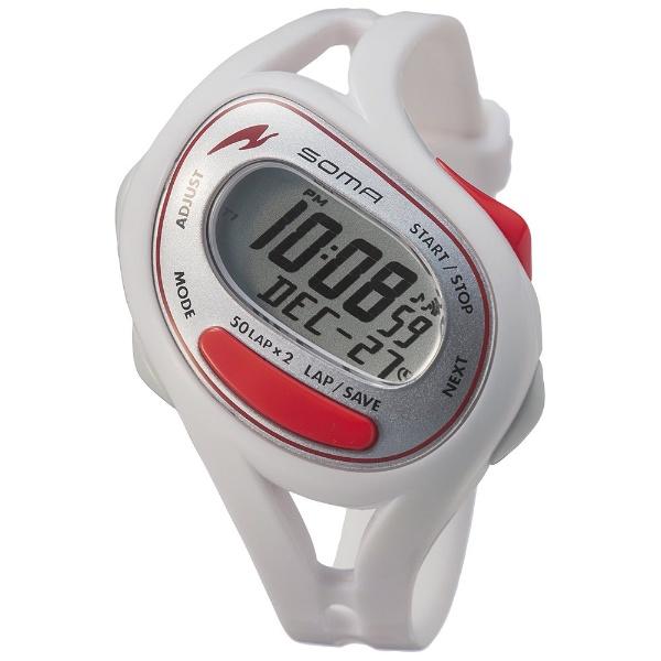 74645d7f6b SOMA グレー ランニングウォッチ時計 ランワン ブラック/ 50 DWJ23-0001 ソーマ RunONE