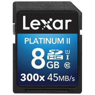 SDHCカード Lexar Platinum II 300X LSD8GBBBJP300 [8GB /Class10]