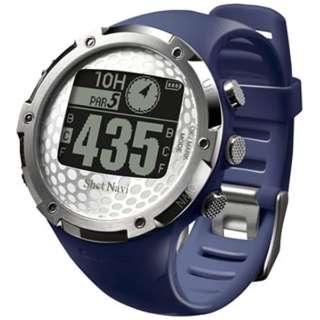 腕時計型GPSゴルフナビ ShotNavi W1-FW(ネイビー)