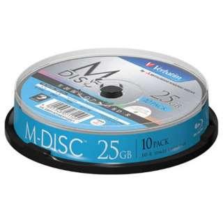 VBR130YMDP10SV1 データ用BD-R ホワイト [10枚 /25GB /インクジェットプリンター対応]