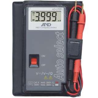 デジタルマルチメーター カードタイプ 最大4000カウント AD5501