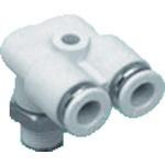 CKD ニュージョイントステンレスタイプ FY形R付 適合チューブ外径:6mm 接続口径R3/8 ZW-FY6-10-P4 441-1137
