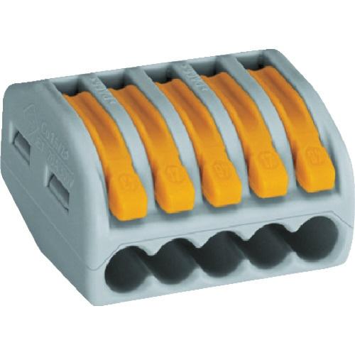 ワゴジャパン WAGO WAGO より線・単線接続可能コネクタ 5穴用 1箱 PK =40個 WF-5 471-7406