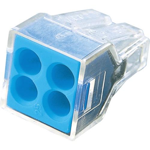 ワゴジャパン WAGO WAGO 差込コネクタ 4穴用 1箱 PK =100個 WGX-4 1箱 100個 471-7449