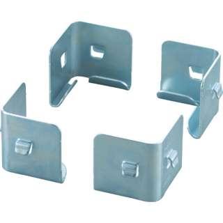 TRUSCO セミボルトレス軽量棚 中段金具 4個入 SBLNUSET