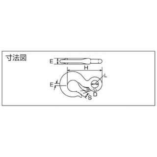 ステンレス 重量フック(鍛造製) JF0.32T