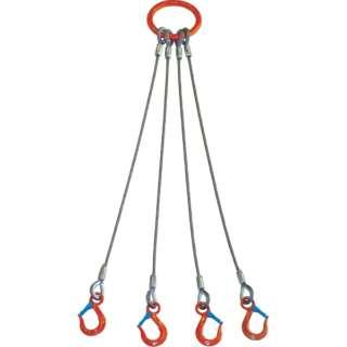 4本吊 ワイヤスリング 3.2t用×1.5m 4WRS 3.2T×1.5