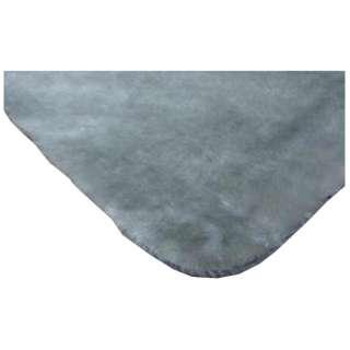 ラグ フリックファー(185×185cm/シルバー)[生産完了品 在庫限り]