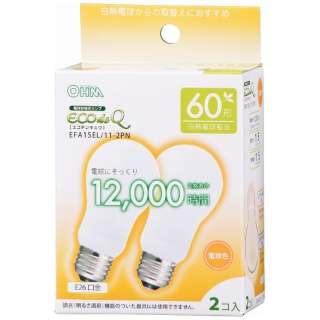 エコ電球60WタイプE26電球色2P EFA15EL112PN