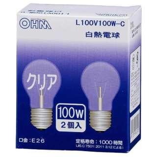LB-PS66100C-2P 白熱電球 クリア [E26 /2個 /一般電球形]