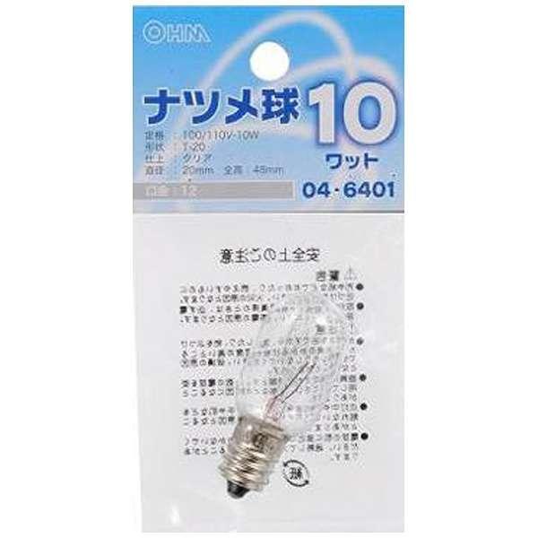 LB-T0210-C 電球 ナツメ球 クリア [E12 /電球色 /1個 /ナツメ球形]