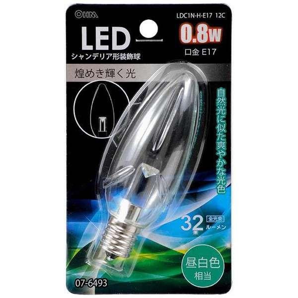LDC1N-H-E17 12C LED電球 クリア [E17 /昼白色 /1個 /シャンデリア電球形]