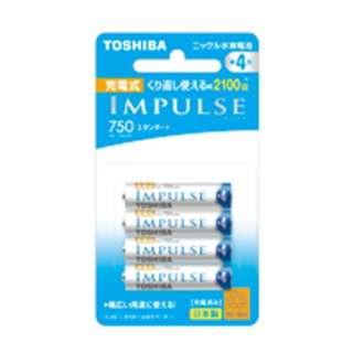 TNH-4ME 単4形 充電池 IMPULSE(インパルス)スタンダードタイプ [4本]