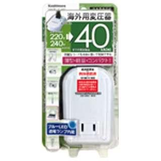 変圧器 (ダウントランス)(220-240V⇒100V・容量40W) WT-54E