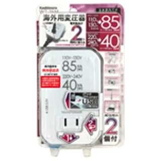 変圧器 (ダウントランス)(110-130V/220-240V⇒100V・容量85/40W USB出力端子0.5A) WT-76M